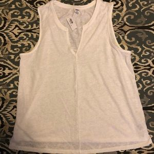 Old Navy Tops - Old Navy Relaxed Linen-Blend Tank. White.